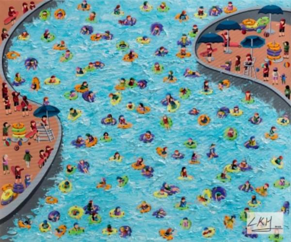 [크기변환]이경현 워터마크_Swimming pool,  60X72cm,  acrylic on canvas,  2018.jpg