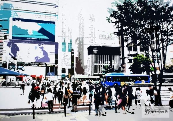 [크기변환]임미나 워터마크_Desire of the city_enamel,hologram_112.1X162.2cm_2019.jpg