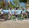'편리한 등교수단 자전거, 안전하게 타요!'