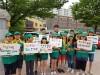순천경찰서, '명예경찰소년단'과  학교폭력 예방 캠페인 가져